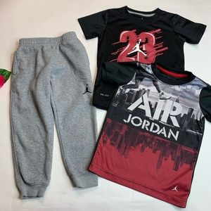 Air Jordan Boys Size 4T Shirts & Pants Lot of 3